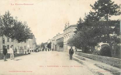 """/ CPA FRANCE 31 """"Carbonne, av de Toulouse"""""""