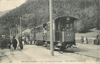 """CPA FRANCE 88 """"Retournemer, le tramway électrique"""""""