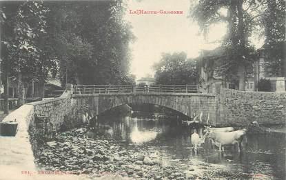 """/ CPA FRANCE 31 """"Encausse les Bains, le pont"""""""