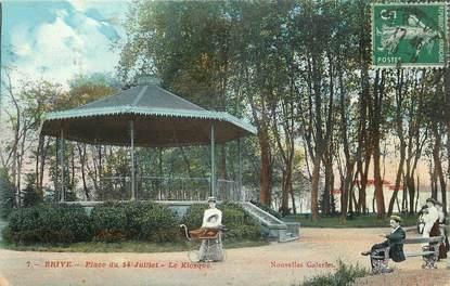 """CPA FRANCE 19 """"Brive, Place du 14 juillet, le kiosque"""""""