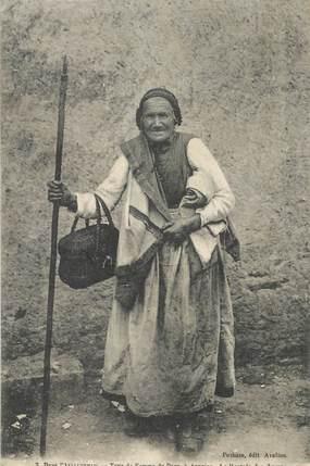 """CPA FRANCE 89 """"Type de femme du Pays à Asquins, la rentrée des champs"""""""