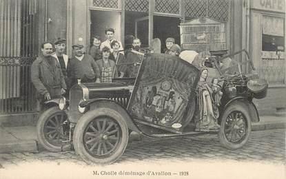 """CPA FRANCE 89 """"Avallon, 1928"""" / AUTOMOBILE / DEMENAGEMENT"""