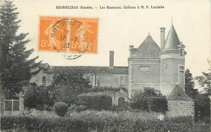 """CPA FRANCE 85 """"Bournezeau, les Humeaux, chateau à M.P. Lacombe"""""""