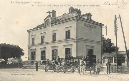 """CPA FRANCE 89 """"Brienon sur Armançon, la gare"""""""