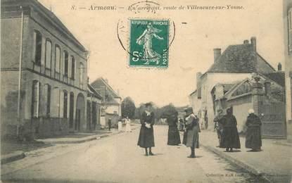 """CPA FRANCE 89 """"Armeau, route de Villeneuve sur Yonne"""""""