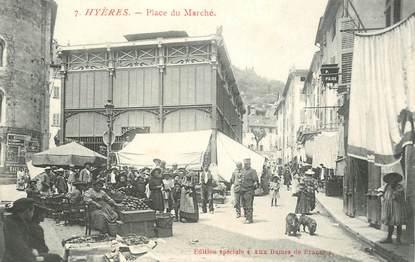 """CPA FRANCE 83  """"Hyères, la place du Marché"""""""