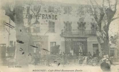 """CPA FRANCE  83 """"Méounes, café hotel Davin"""""""