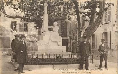 """CPA FRANCE  83 """"Ollioules, monument de la Victoire"""""""