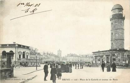 """CPA FRANCE 19 """"Brive, Place de la Guierle et avenue de Paris"""""""