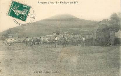 """CPA FRANCE  83 """"Rougiers, le Foulage du blé"""""""