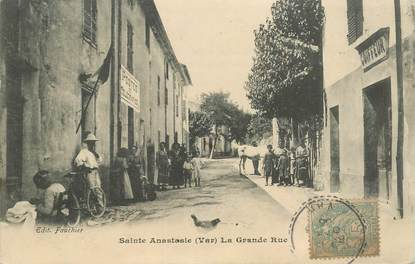 """CPA FRANCE  83 """"Sainte Anastasie, la grande rue"""""""