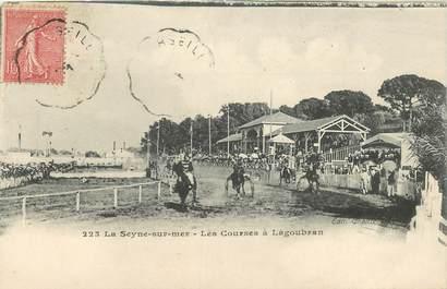 """CPA FRANCE 83 """"La Seyne sur mer, les courses à Lagoubran"""""""
