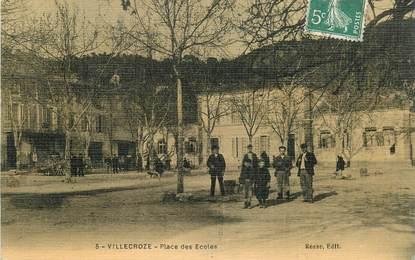 """CPA FRANCE 83 """"Villecroze, place des Ecoles"""""""