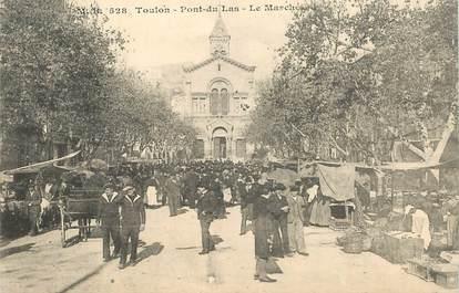 """CPA  FRANCE 83 """"Toulon, le Pont du Las, le Marché"""""""