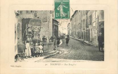 """CPA  FRANCE 83 """"Tourves, rue Rougière"""""""