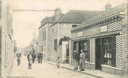 "CPA  FRANCE 89 ""Villeblevin, la grande rue"""