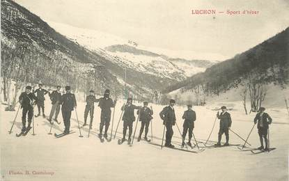 "/ CPA FRANCE 31 ""Luchon, sport  d'hiver"" / SKI"