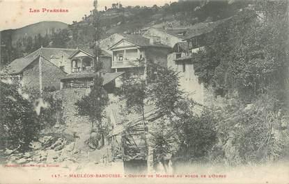 """/ CPA FRANCE 31 """"Mauléon Barousse, groupe de maisons au bords de l'Ourse"""""""