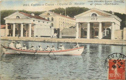 """CPA FRANCE 83 """"Environs de Toulon, L'Hopital Saint Mandrier"""""""