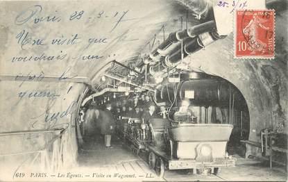"""CPA FRANCE 75 """"Paris, Les Egouts"""""""