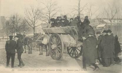 "CPA FRANCE 75 ""Paris, Inondations 1910"""
