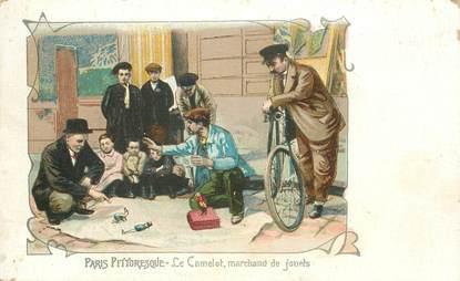 """CPA FRANCE 75 """"Paris pittoresque, Le Camelot, marchands de jouets"""""""