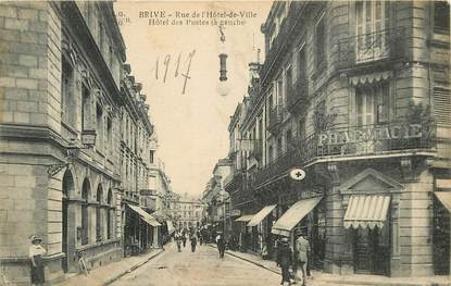 """CPA FRANCE 19 """"Brive, rue de l'Hotel de Ville, Hôtel des Postes"""""""