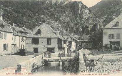 """/ CPA FRANCE 31 """"Saint Béat, le Canal et la rue haute"""""""