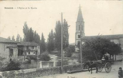 """/ CPA FRANCE 31 """"Soueich, l'église et le moulin"""""""