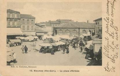 """/ CPA FRANCE 31 """"Rieumes, la place d'Armes"""""""
