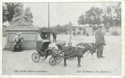 """CPA  FRANCE  75 """"Paris, les voitures de chèvres"""""""