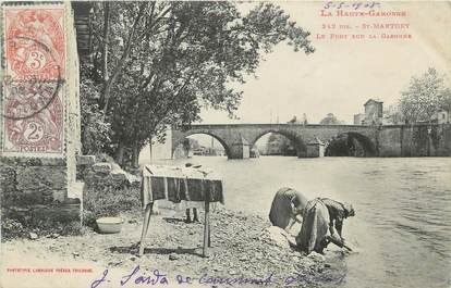 """/ CPA FRANCE 31 """"Saint Martory, le pont sur la Garonne"""" / LAVEUSE"""