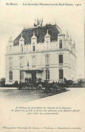 "/ CPA FRANCE 31 ""Saint Rome, le château"""