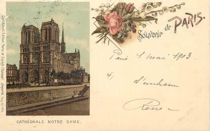 """CPA FRANCE 75 """"Paris, Cathédrale Notre Dame"""""""