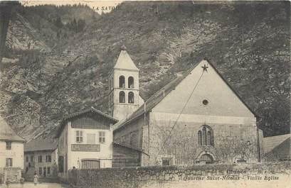 """/ CPA FRANCE 74 """"Cluses, quartier Saint Nicolas, vieille église"""""""
