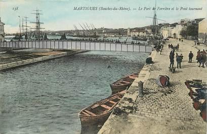 """CPA FRANCE 13 """"Martigues, le port de Ferrière et le pont tournant"""""""