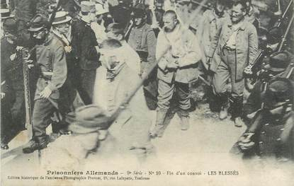 """/ CPA FRANCE 31 """"Toulouse, prisonniers allemands, fin d'un convoi"""""""