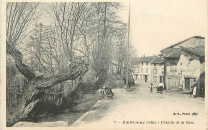 "/ CPA FRANCE 01 ""Ambronay, chemin de la gare"""