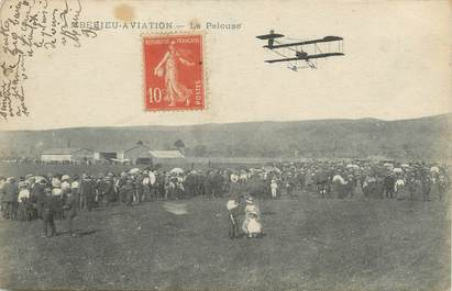"/ CPA FRANCE 01 ""Ambérieu Aviation, la pelouse"""