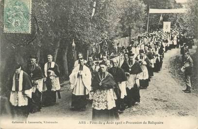 "/ CPA FRANCE 01 ""Ars, fête du 4 août 1905"""