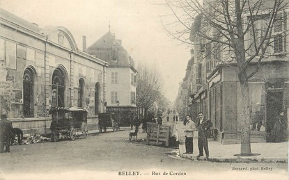 Cpa france 01 belley rue du cordon 01 ain belley for Plan de belley