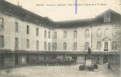 """/ CPA FRANCE 01 """"Belley, institution Lamartine, cour d'honneur"""""""