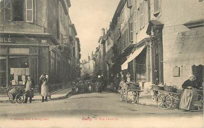 """/ CPA FRANCE 01 """"Bourg, rue centrale"""""""