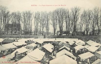 """/ CPA FRANCE 01 """"Bourg, la place Grenette un jour de marché"""""""