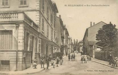 """/ CPA FRANCE 01 """"Bellegarde, rue Denfert Rochereau"""""""