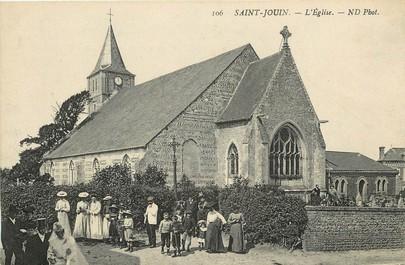 """CPA FRANCE 76 """"Saint Jouin, l'Eglise"""""""