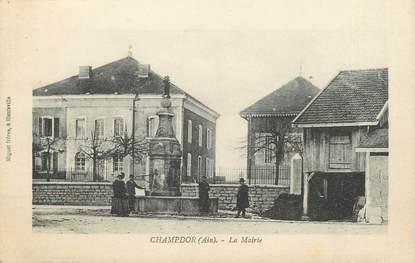 "/ CPA FRANCE 01 ""Champdor, la mairie"""
