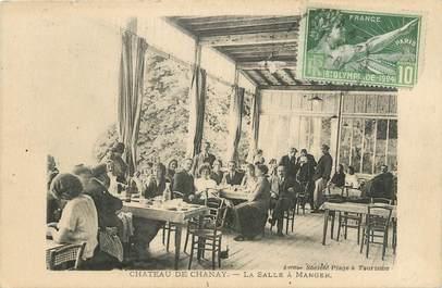 """/ CPA FRANCE 01 """"Château de Chanay, la salle à manger"""""""