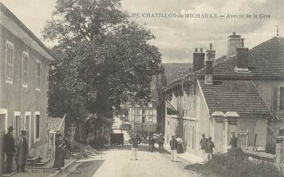 "/ CPA FRANCE 01 ""Chatillon de Michaille, av de la gare """