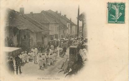 "/ CPA FRANCE 01 ""Culoz, une procession"""